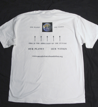 photo of T-shirt back